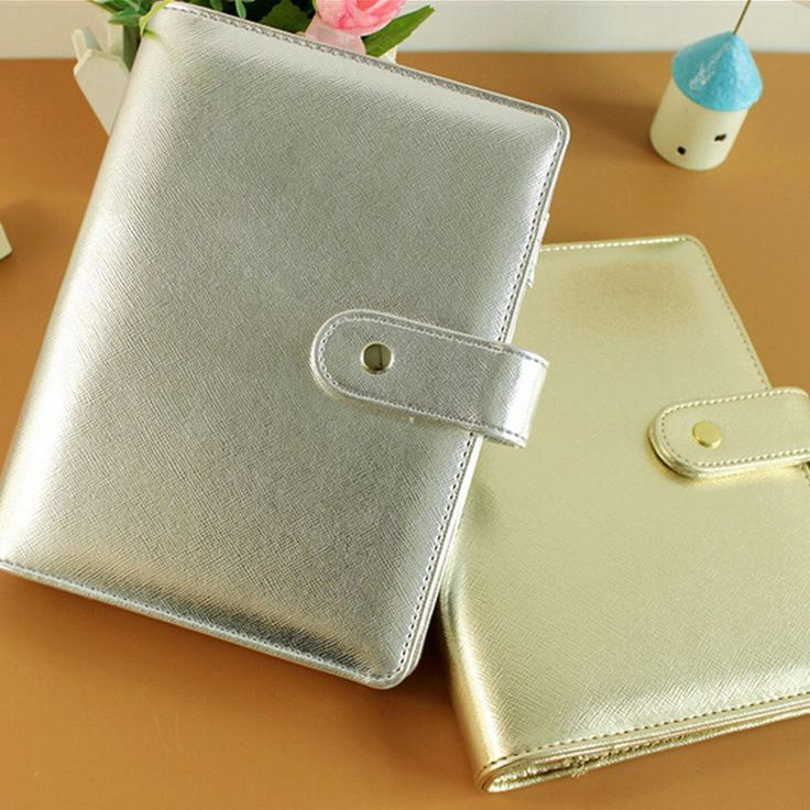 Nayiben Original A5& A6 PDA 6 Hole Loose-leaf Notebook Diary Hand Books Native Silver & Gold Kikki Dokibook Style