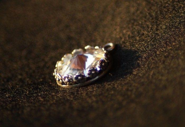 Pendente swarovski rotondo cristallo 3