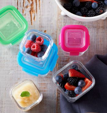 These no nasty, microwave, fridge and freezer safe, glass containers are perfect for your little ones (or even yourself). Fill your Littlelock glass food storage containers with baby purees or toddler meals for the freezer or throw them in your nappy bag with snacks for the park. Made of tempered glass, much stronger than regular glass. Click the link to see the range. Photo credit - Littlelock