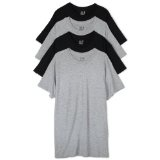 Fruit of the Loom Men's Crewneck Tee 4 Pack, Black/Grey, X-Large (Apparel)By Fruit of the Loom