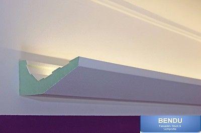 LED Stuckleisten für indirekte Deckenbeleuchtung Stuck Lichtprofile Hartschaum in Möbel & Wohnen, Beleuchtung, Wandleuchten | eBay