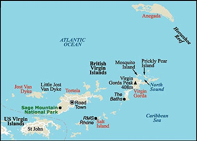 Best Virgin Islands And Martinique Images On Pinterest Virgin - Us and british virgin islands map