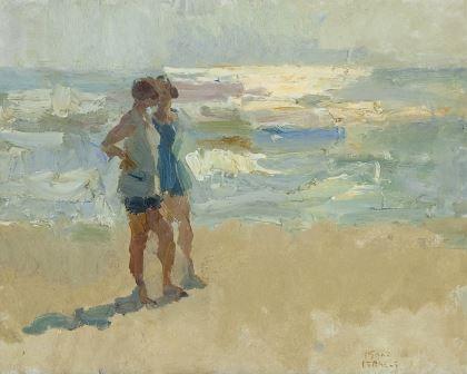 'Isaac' Lazarus Israels (1865-1934) Ladies on the beach, Viareggio, oil on canvas. Collection Simonis & Buunk, The Netherlands.