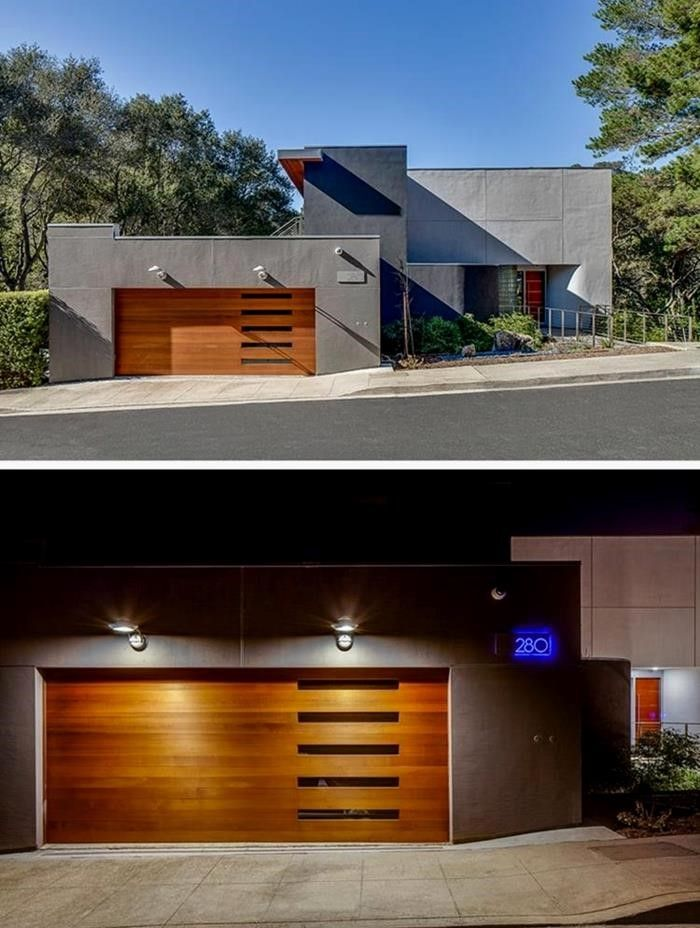 Electric garage door - 12 ideas for an attractive garage, The garage door is an important element of the house facade. It not only serves to safely close the garage, but should also be ..., #Decor #Ideas #Design #DIY