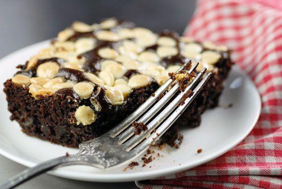 Easy Black and White Cake