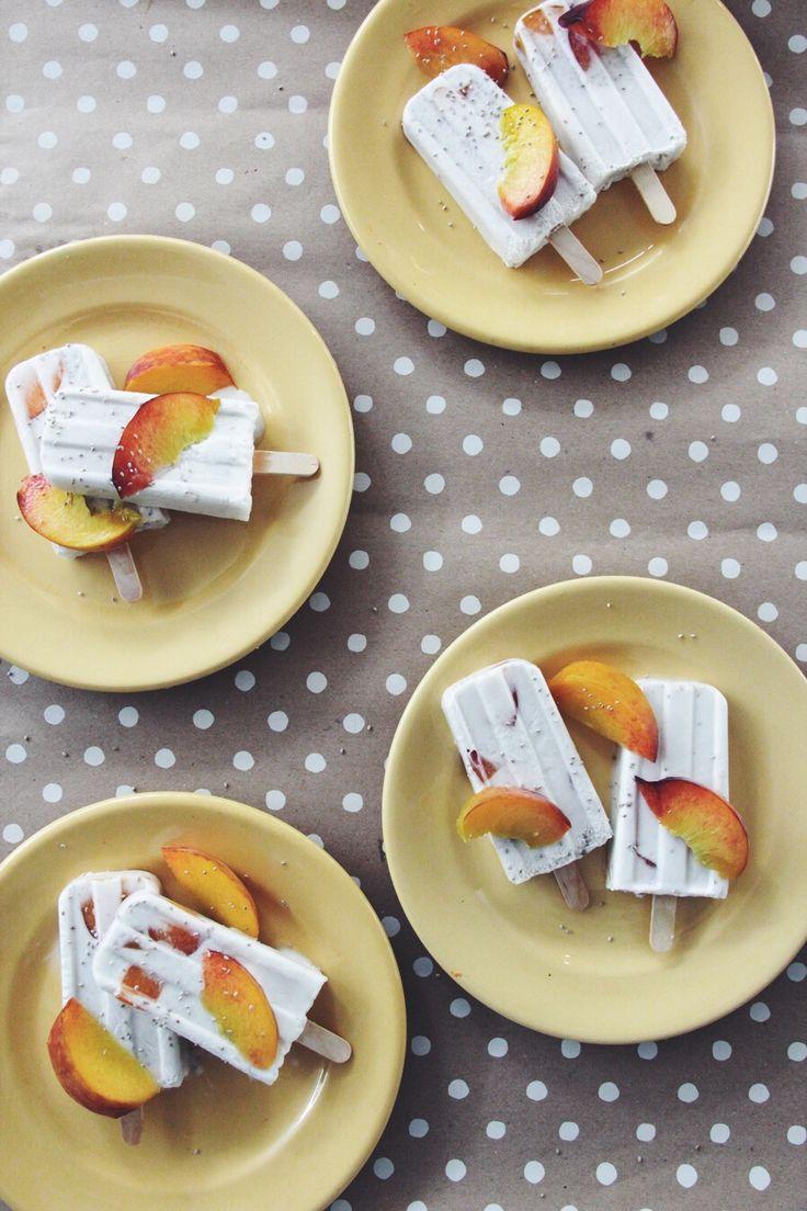 I Quit Sugar recipe - Chia Peaches + Cream Pops