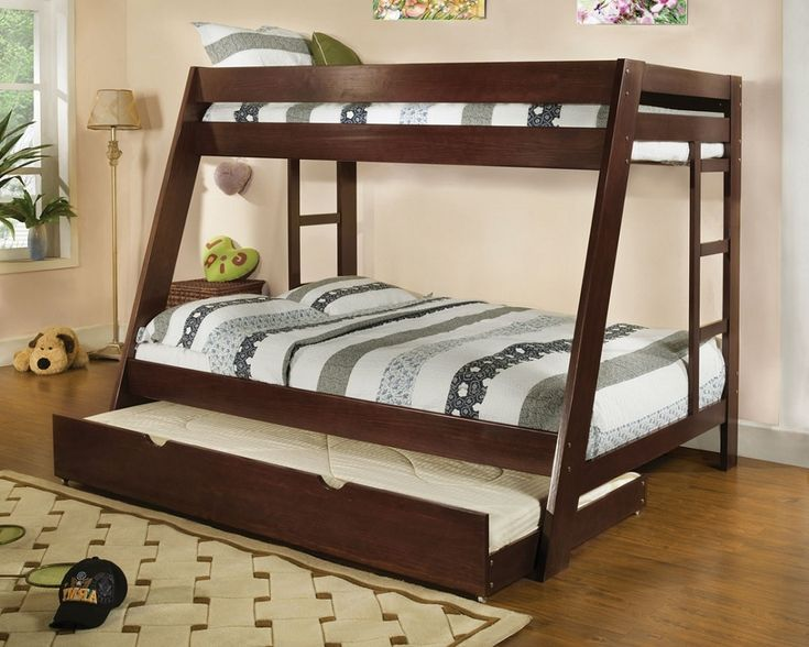 image of queen size bunk beds with trundle