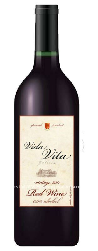 non alcoholic wine 0,0% certificated