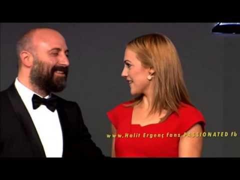 Halit Ergenc & Meryem Uzerli on stage...Full Award scene ''Man of the ye...