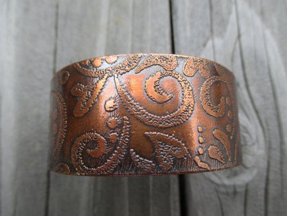 Copper Cuff by ColetteLouiseDesigns on Etsy