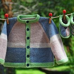Layette ensemble 3 mois gilet et chaussons neuf tricoté main