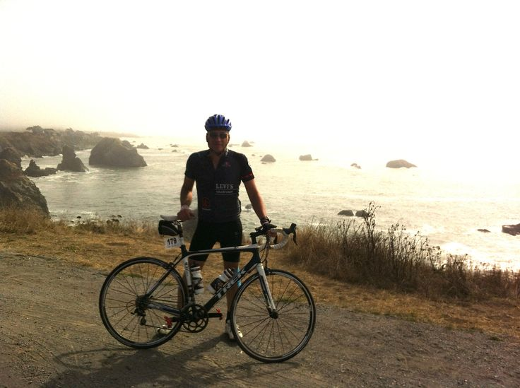 Rob atop King's Ridge on his epic ride, Levi's Gran Fondo 2012