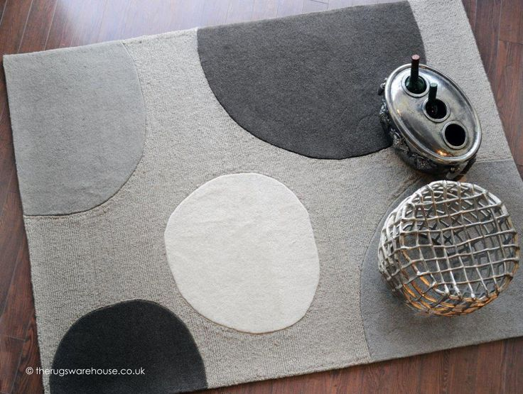 Rock Garden Rug A 100 Wool Hand Tufted In Grey Silver