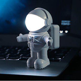 El Astronauta Flexible De Luz LED De La Lámpara USB Para El Ordenador Portátil PC Portátil