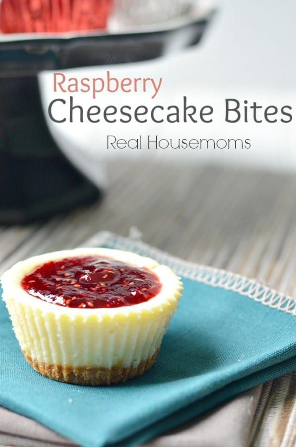 Raspberry Cheesecake Bites