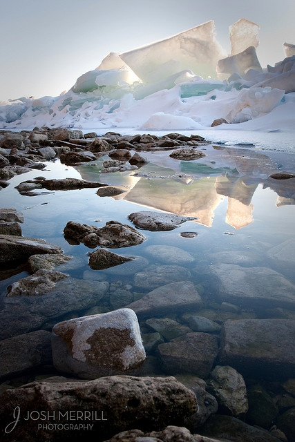 Ice, Peninsula State Park, Door County, WI by Josh Merrill Photography