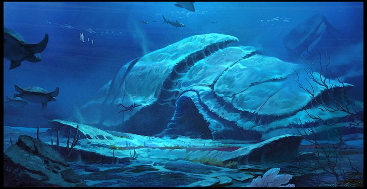 Underwater Temple by UnidColor on DeviantArt