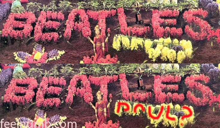 """I've been wanting to start a """"Paul Is Dead"""" section of feelnumb.com for quite a bit now. Here is our first story on clues to Paul McCartney's supposed death in 1966. Here's one of the many clues on the cover of The Beatles """"Sgt. Pepper's Lonely Hearts Club Band"""" album."""