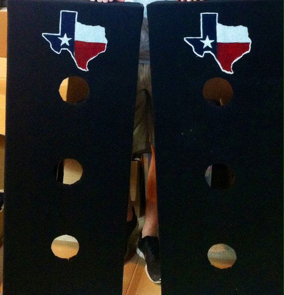 Custom Texas washer boards by RWBCustomTailgating on Etsy