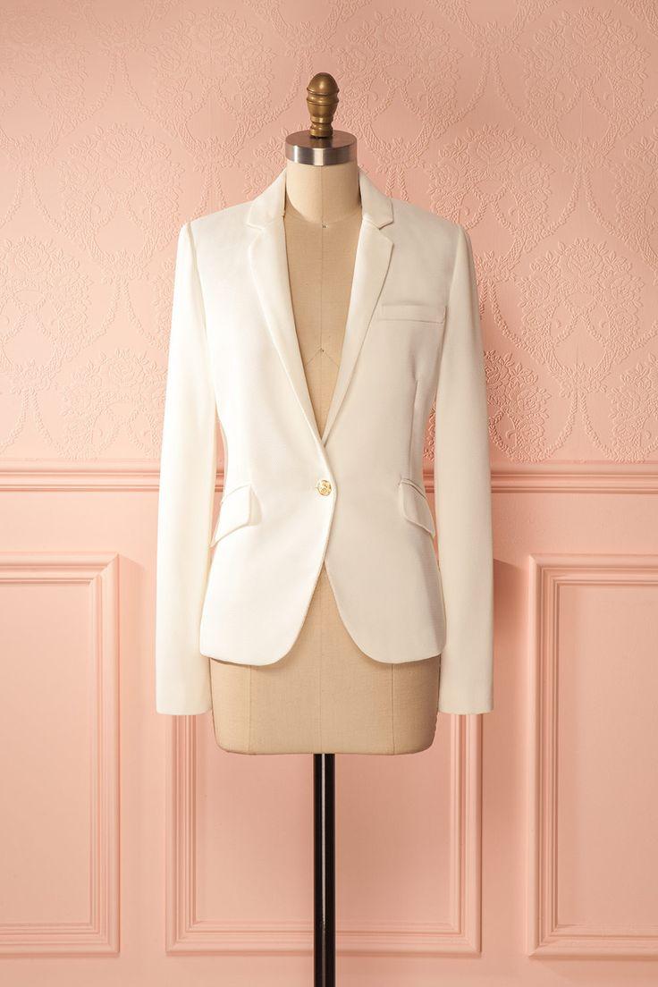 Desislava #Boutique1861/ White blazer is a must-have in a wardrobe ! #classics