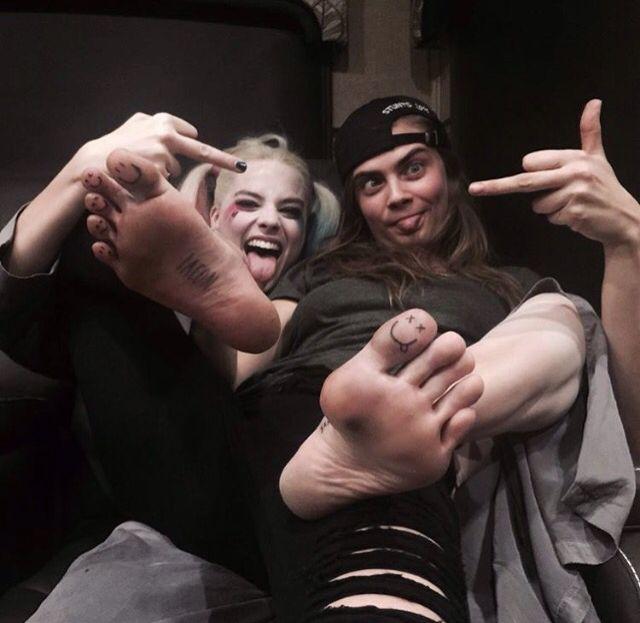 Margot Robbie & Cara Delevingne