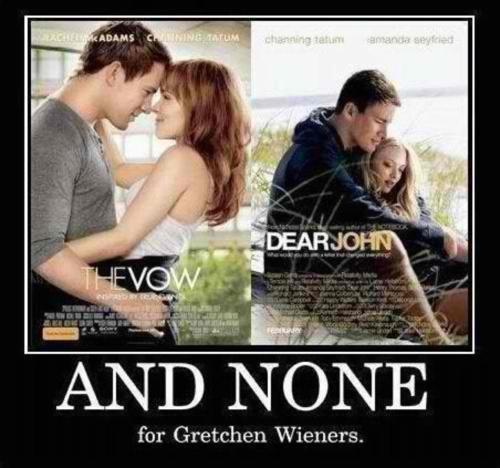 Mean Girls: Laugh, Poor Gretchen, Glen Coco, Channing Tatum, Meangirls, Gretchen Wiener, Mean Girls, Funny Stuff, Gretchen Weiner