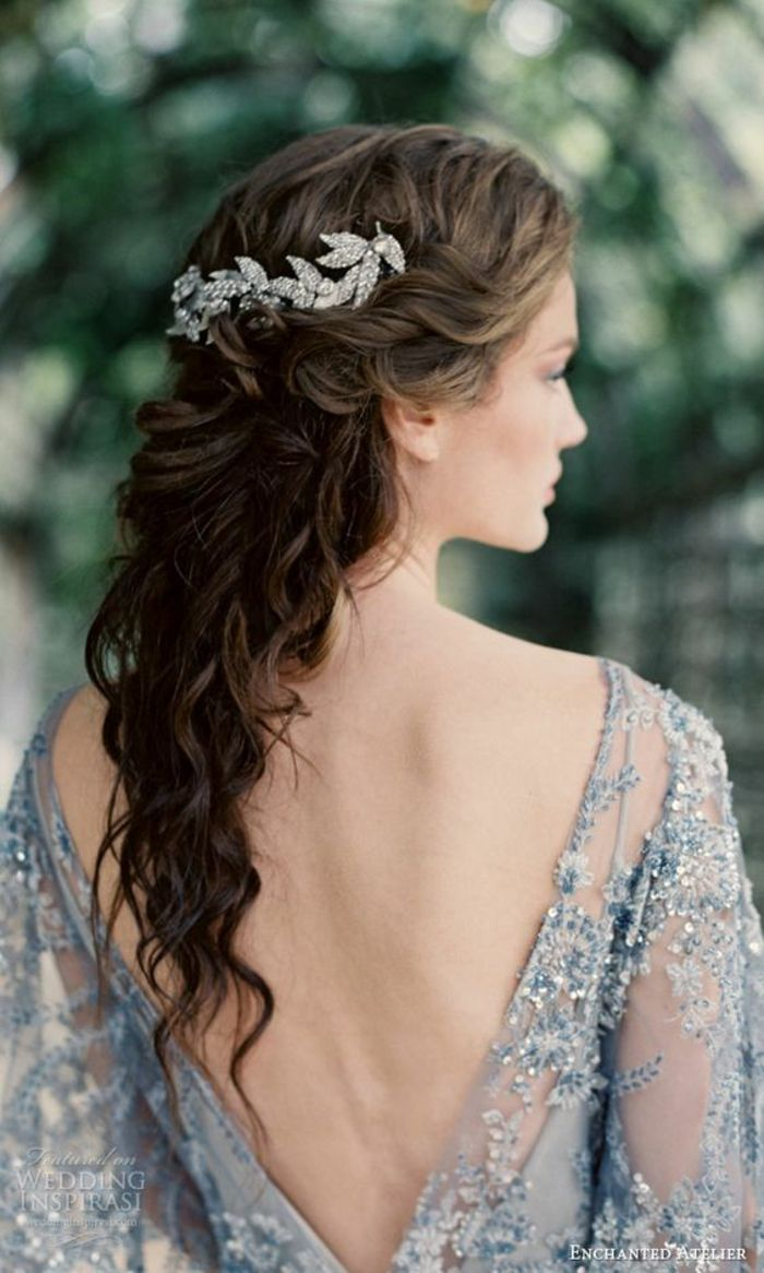 Coiffures pour femmes mariage cheveux longs