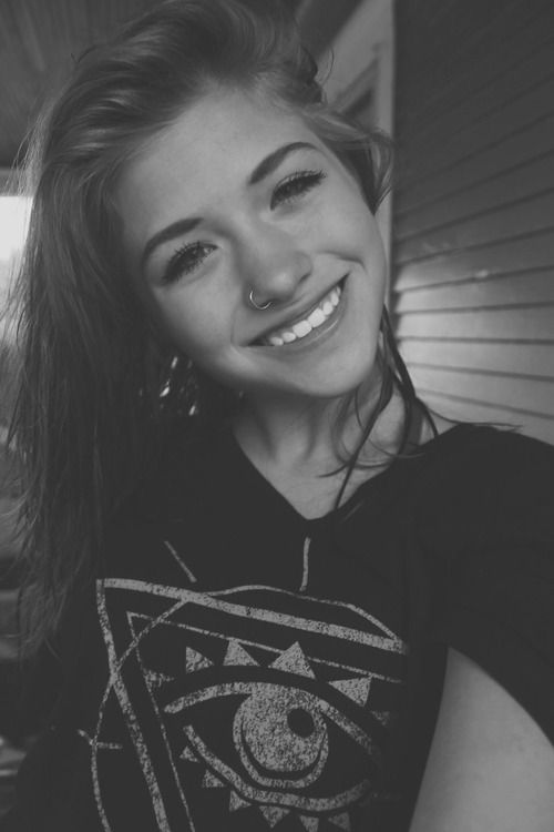 Love everything about this photo piercing, smile ,tone ...