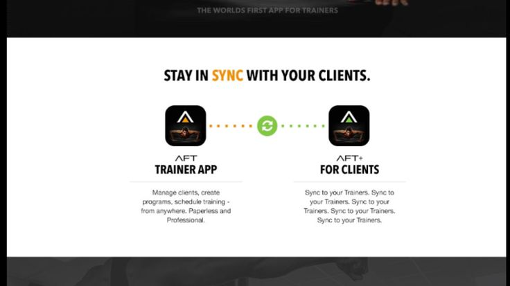 Did you know? The AFTPro and AFT+ are the world's first and only trainer and client apps that sync and work together.
