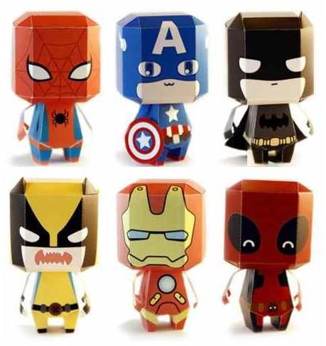Here are six Paper Heroes offered by Spanish designer Vicenç Lletí Alarte, from Toxic Factor y website. No glue is necessary. Batman, W...