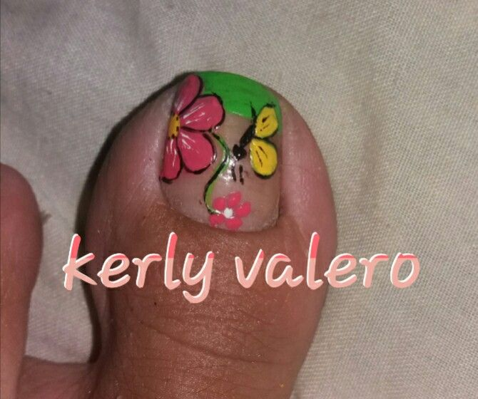 Francés verde flor mariposa