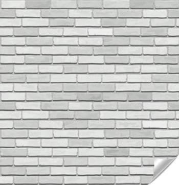 Naklejka - Biała stara cegła, wektor bez szwu tekstury.