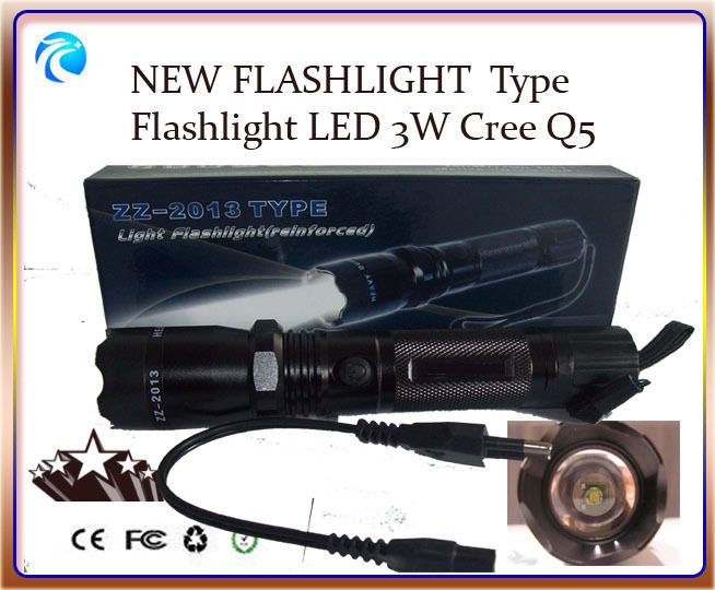 Super Bright Police Rechargeable Torch Flashlight led CREE Q5