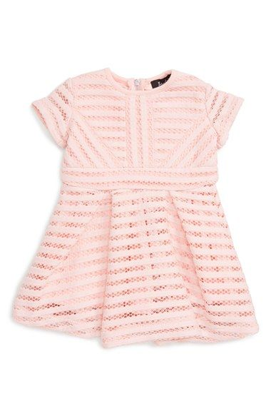 Bardot Junior 'Nouveau Vertical Limits' Dress (Baby Girls) at Nordstrom.com. Mesh stripes bring eye-catching geometric style to a short-sleeve dress with a perfectly pleated skirt that's sure to make her the belle of the ball.