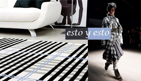 Alfombra Tartan pura lana / EbanoDeco . Traje  Vivienne Westwood / London Fashion Week   2012