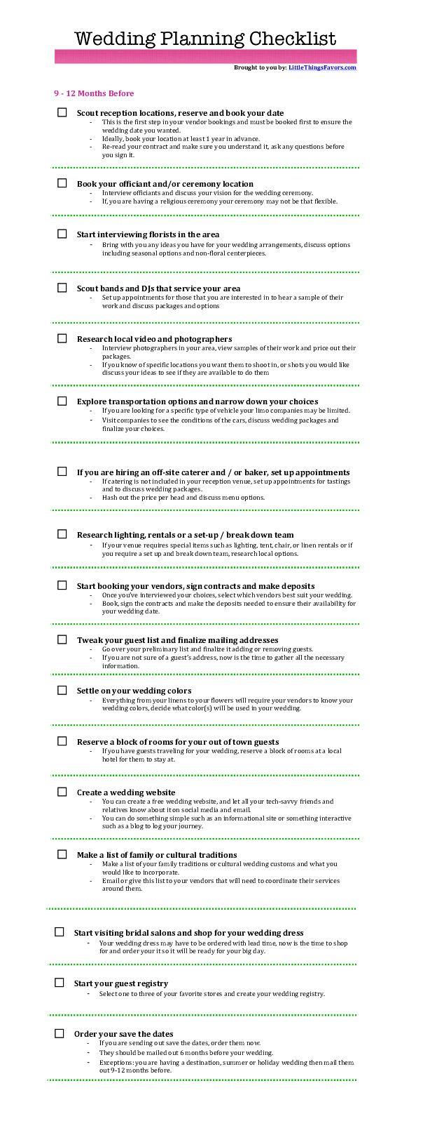 Best 25+ Wedding Checklist Printable Ideas On Pinterest | Wedding Planning  Checklist, Wedding Planning List And Diy Wedding Checklist