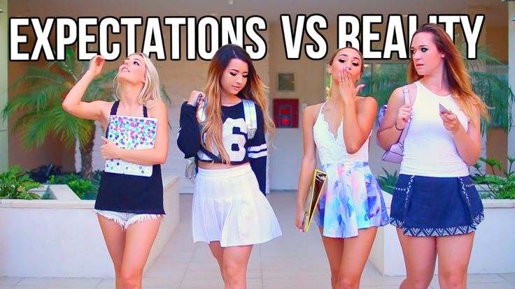 Back to School: Expectations Vs Reality. OMG a lot of this is true. Great video :)