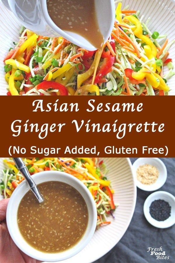 Ihre eigene asiatische Sesam-Ingwer-Vinaigrette zuzubereiten ist nicht nur einfach, sondern auch WAY health …   – Best of Fresh Food Bites Recipes