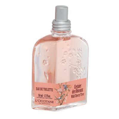 L'Occitane en Provence Wild Cherry eau de toilette. Smell like spring at your spring wedding!