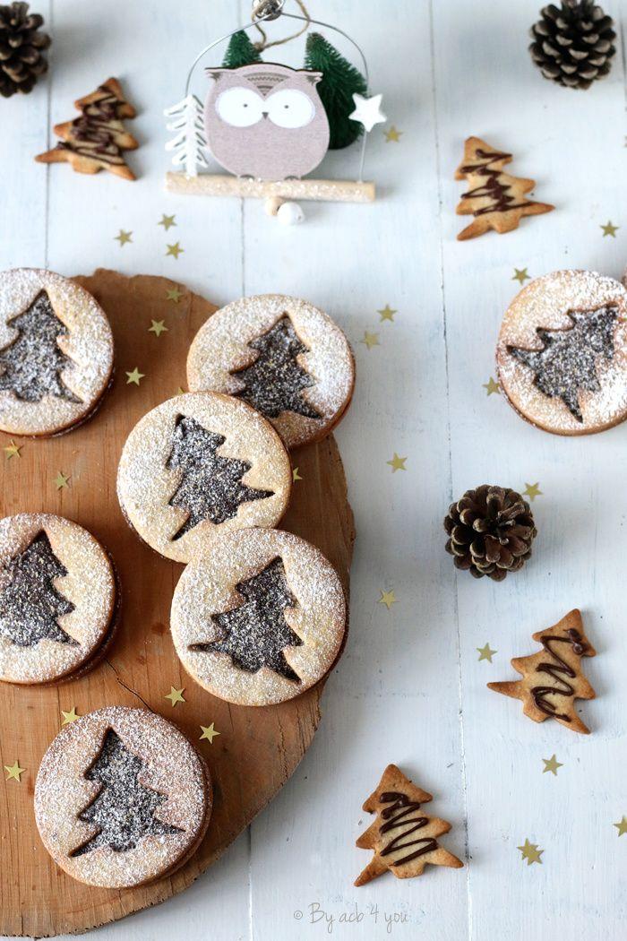 Sablés de Noël au chocolat, fève tonka et un peu noisette