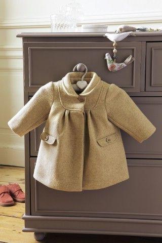 Manteau laine pour bébé chez Cyrillus