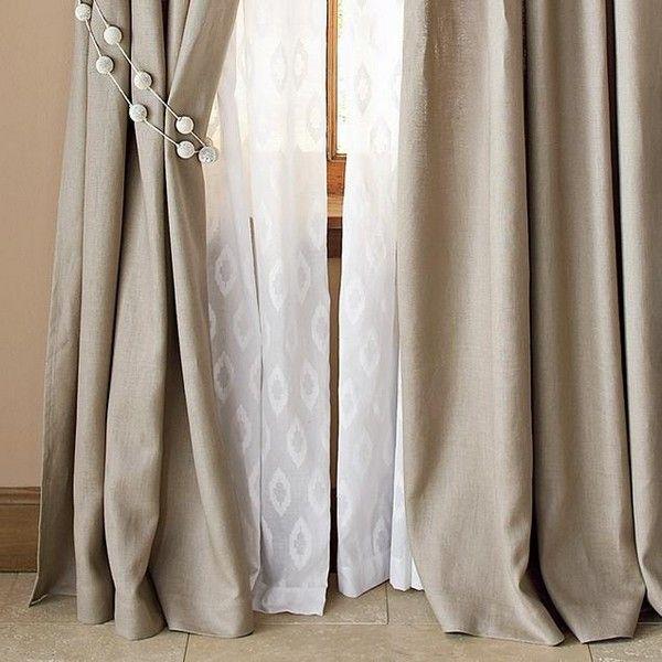 Льняные шторы в интерьере кухни и спальни: 10 фото