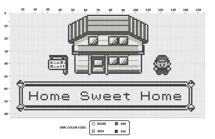 Home Sweet Home Pokemon cross-stitch. When we get our first place I'm making…