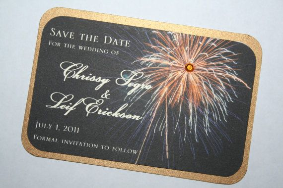 Fireworks Save the Date  2 by atouchofsunshine1 on Etsy
