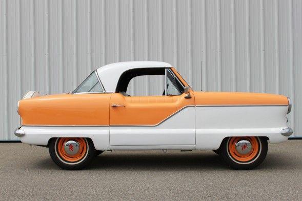 the adorable 1959 nash metropolitan coupe. i LOVE this car!