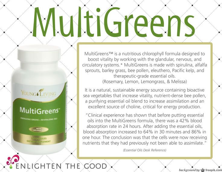 Incredible Young Living MultiGreens!