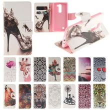 Fashion Colorful Painting Leather Wallet Cover Case for LG G4C G4mini Cases Cover Stand Design With Card Holder