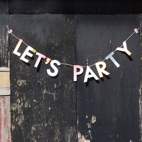 LET'S PARTY   Luxury handmade paper decor by Paper Street Dolls