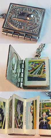1939 New York World's Fair souvenir photo album book charm ~ from the estate of Joan Munkacsi