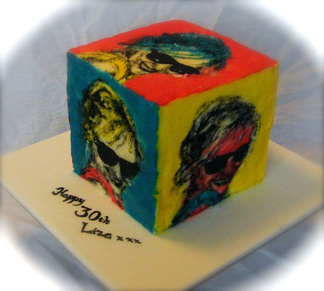 Cake Artist Peterborough : Andy Warhol inspired cube cake 100 most famous art cakes ...